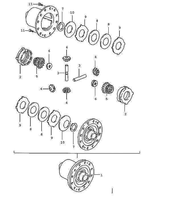 1994 Porsche 928 Transmission: Porsche 928 Transmission Thrust Washer