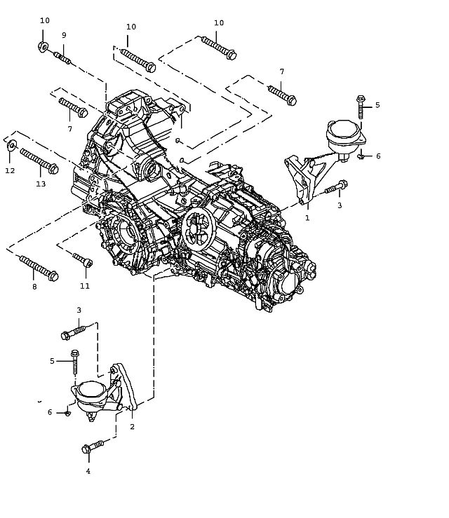 2005 Porsche Boxster Transmission: Porsche Boxster Transmission Pan-head Screw M 10x40