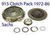 Porsche 911 Clutch Kit 911 1972-86 New with Steel Pressure Plate