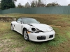 Porsche Boxster 2007 Parts Car White/tan wrecked in front