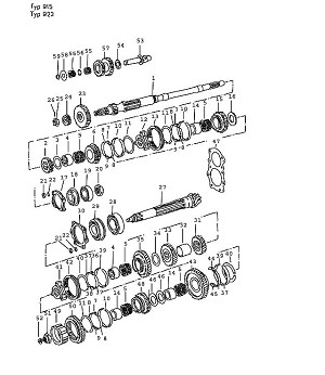 Porsche 924 Tensioning Plate for Pinion Shaft Bearing