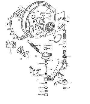 Porsche 911 Transmission Clutch helper spring