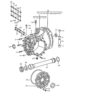 Porsche 911 Transmission Hexagon-Head Bolt