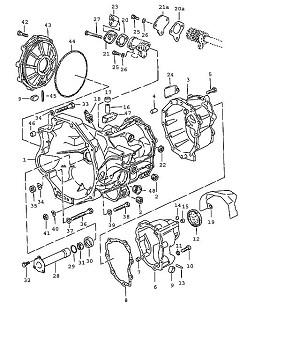 Porsche 924 Transmission Cap