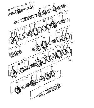 Porsche 924 Transmission Spacer Sleeve