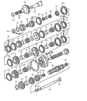 Porsche 928 Transmission Deep-groove ball bearing