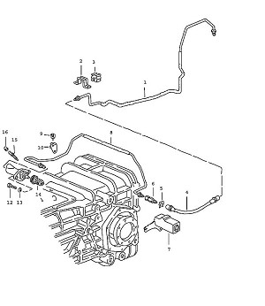 Porsche 928 Transmission Cable clip