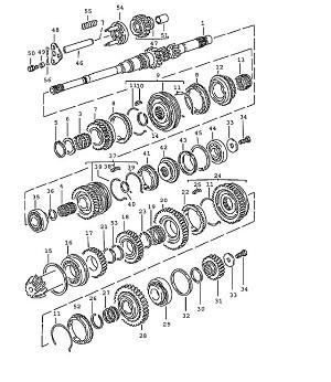 Porsche 944 Transmission Needle-Roller Bearing 3Rd Speed