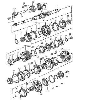 Porsche 924 Synchronising Hub 1St/2Nd Gear & Slider Sleeve