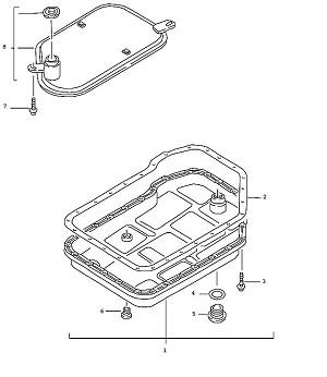 Porsche Boxster Transmission Pan-Head Screw
