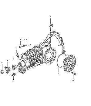 Porsche 911 Transmission Clip